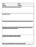 Editable Madeline Hunter Lesson Plan Template