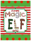 Editable Magic Elf Notes