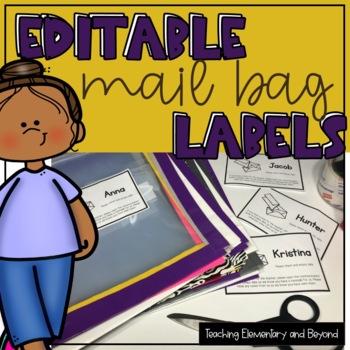 Editable Mail Bag Labels