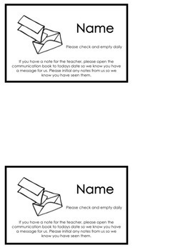 Back to School Editable Mail Bag Labels