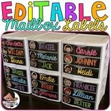 Editable Mailbox Labels | Sterilite Drawer Labels | Kidlettes Edition