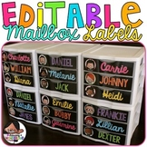 Name Tags | Editable Mailbox Labels | Sterilite Drawer Labels | Classroom Decor