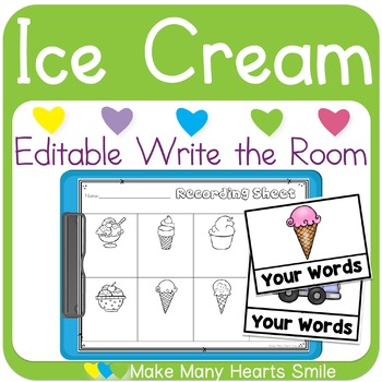 Editable Make Me Smile Kit: Ice Cream