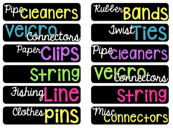 Editable Makerspace Toolbox Labels