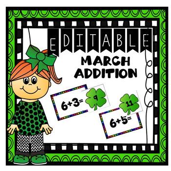 Editable March Addition Center