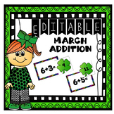 Editable March Addition Center