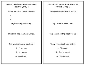 Editable March Madness Book Bracket