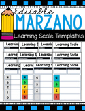 Marzano Learning Scale Templates