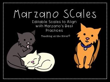 Editable Marzano Scale Template- Cat Theme