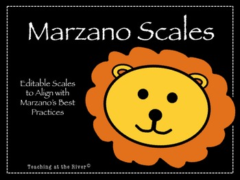 Editable Marzano Scale Template- Safari Theme