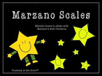 Editable Marzano Scale Template- Stars Theme