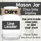 Farmhouse Editable Mason Jar Class Jobs
