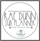 Maternity Leave Binder, Planner and Lesson Plan Templates - Rae Dunn - EDITABLE