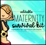 Editable Maternity Leave Sub Binder + Lesson Plan Template {2019-2020}