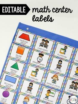 Editable Math Center Labels