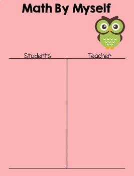 Math Daily 3 Owl Themed I Chart {Editable}