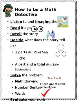 Editable Math Detective Poster