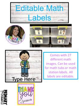 Editable Math Labels