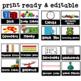 Editable Math Labels | Math Bin Labels | Black and White