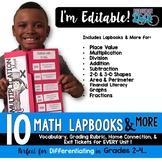 Math Lapbooks EDITABLE & MORE for Grades 2-4