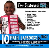 Math Lapbooks EDITABLE & MORE for Grades 2-4