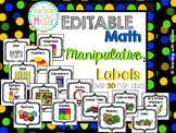Editable Math Manipulative Labels
