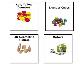 Editable Math Manipulatives Labels