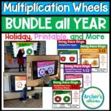 Digital Multiplication Math Wheels Rings Relay Race Growin