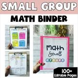 Editable Math Small group/Guided Math Teacher Binder