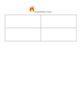 Editable Math Template- Give your kids choice!