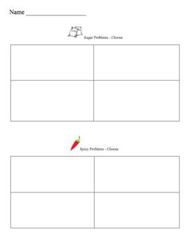 Editable Math Template- Give your kids choice!