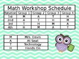 Editable Math Workshop Schedule