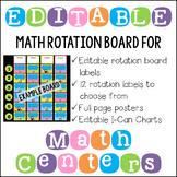 Editable Math Workshop Center Rotation Board