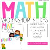 Editable Math Workshop Slides   Distance Learning