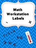 Editable Math Workstation Labels