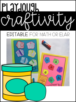Editable Math and Letter Craft, Playdough Theme