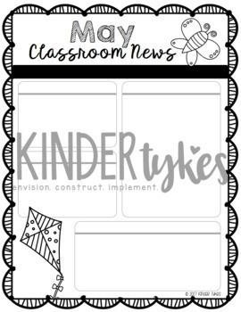 Editable May Classroom Newsletter
