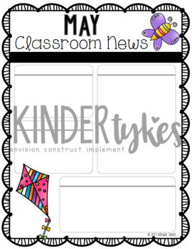 Editable May Classroom Newsletter