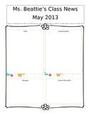 Editable May Newsletter