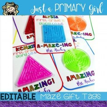 Editable Maze Gift Tag