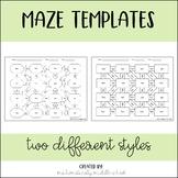 Editable Maze Template