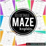 Editable Maze Templates