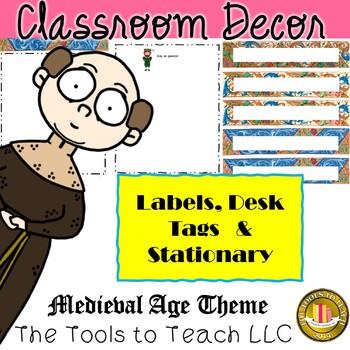 Editable Medieval Classroom Decor