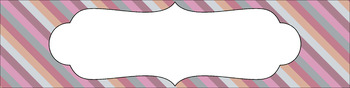 Editable Sterilite Drawer Labels - Multi-Color: Afternoon Tea