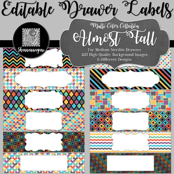 Editable Medium Sterilite Drawer Labels - Almost Fall   Editable PowerPoint