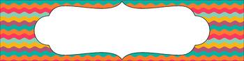 Editable Sterilite Drawer Labels - Multi-Color: Bohemian