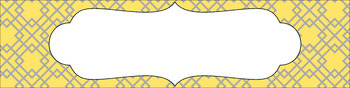 Editable Sterilite Drawer Labels - Dual-Color: Cloudy Day