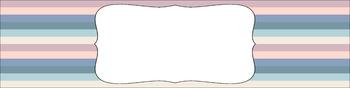 Editable Sterilite Drawer Labels - Multi-Color: Beach Sunrise