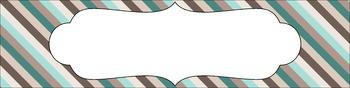 Editable Medium Sterilite Drawer Labels - Driftwood