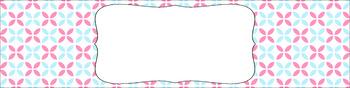 Editable Medium Sterilite Drawer Labels - Cotton Candy